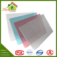 Easy maintenance sound insulation multilayer polycarbonate sheets