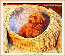 Handmade natural willow wicker dog bed