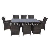 Viro/Rehau rattan dining table and chairs for patio/outdoor/hotel