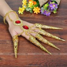 Hindu bracelet finger cover Dancing jewelry