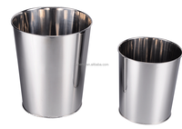 mirror cone-shape open top stainless steel metal waste paper bin,industrial steel waste bin,industrial steel waste bi