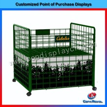 New fashion supermarket metal portable display rack for plants