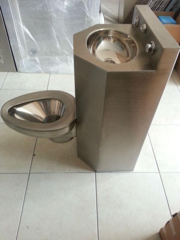 en acier inoxydable prison combinaison de toilette toilettes et vier nrm 5002. Black Bedroom Furniture Sets. Home Design Ideas