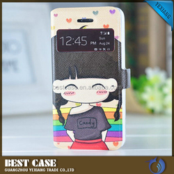 new DIY design flip leather case view cover for iphone 5