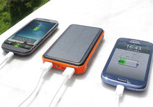 Waterproof 8000mAh Solar Battery Charger 2 USB Power Bank Cell Phone Universal