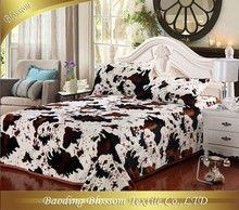 Microfiber Blanket HRM Printed Fleece Blanket Double Ply Bedding Blanket Cloudy Printing Fleece Quilt