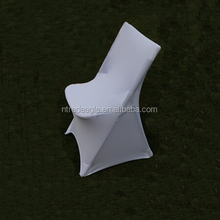 white lycra spandex folding chair cover for wedding/banquet/dining
