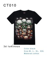 Most popular glow in the dark dubai wholesale t-shirt