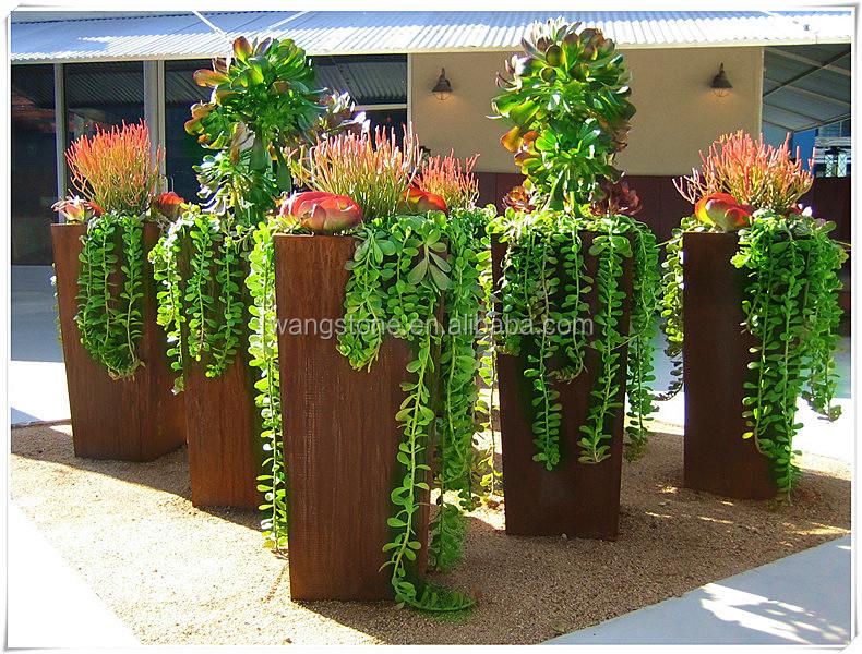corten acier pot de fleur arts collection id de produit 60126813496. Black Bedroom Furniture Sets. Home Design Ideas