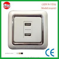 Double 2.1A USB Wall Socket Flush Mounted