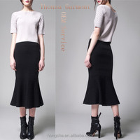 Latest Fashion Long Skirts And Tops Design Mature Women In Skirts Elegant Midi Skirt HSS7884