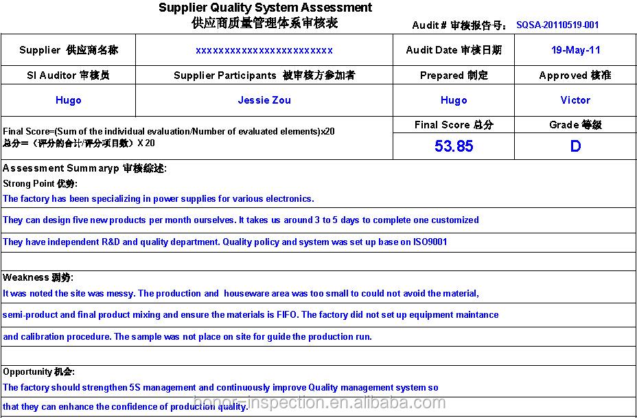 supplier audit plan template - factory audit supplier verify inspection report audit