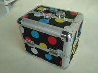 Colored quatrefoil cosmetic bag,cosmetic carry case cheap ,PVC wholesale makeup bags