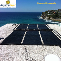 black less lose heat plastic solar heating panels for swimming pool