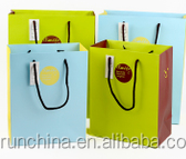 new type nice fashionable gift paper bag to happy birthday