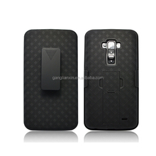 High quality weave pattern 2 in 1 double PC phone case cover for LG G FLEX/D958/D950