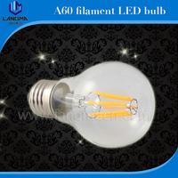 Langma 2015 Newest Design Energy Saving E27 B22 dimmable vintage 8w led filament bulb
