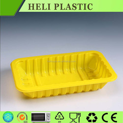 Colored disposable fruit/vegetable/meat plastics tray