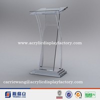 China factory cheap acrylic design of acrylic rostrum with color