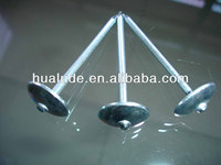 umbrella roofing nail with rubber washer