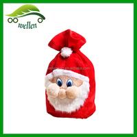 Wholesale 35 * 47cm Santa backpack, Christmas Eve flocking gift bag,Christmas shopping bag
