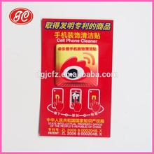 Etiqueta privada microfibra sticky limpiador teléfono