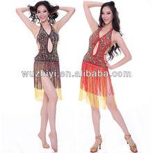 Vestido salón de baile latino talla libre disfraces bailarinas del vientre