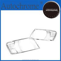 Chrome car trim accent styling gift, Chrome Head Light Cover - for Mitsubishi Pajero / Shogun 00-05