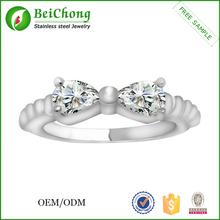 18 Karat white gold plated thin cheap price white gold ring