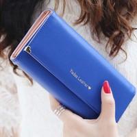 Bz5220 2015 best sale wallets Korean fashion letter women purses many color