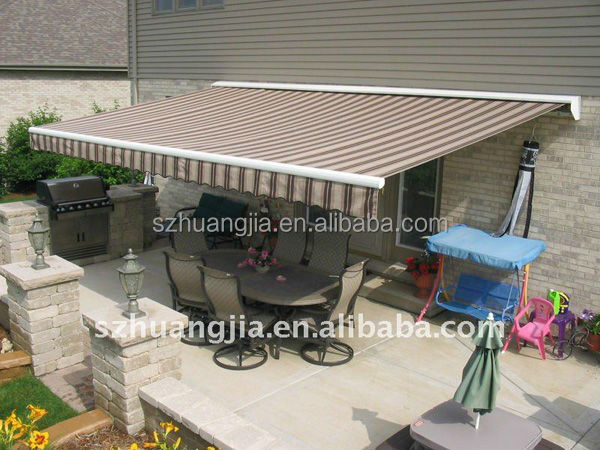 Motorized Retractable Caravan Awnings Sliding Awning Steel Patio Awning