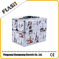 Aluminum Multi-functional Makeup Box Cosmetic Case with Carry Bar