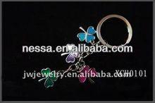fashion zinc alloy crystal letters keychain,metal letter keychain