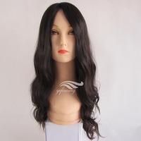 Yefine Wig Top Quality #1b Wavy Virgin 100% Full Lace Brazilian Human Hair Wig