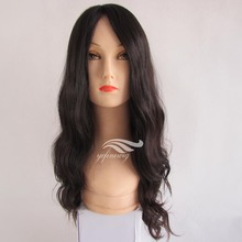 Yefine Wig Top Quality #1b Wavy Virgin 100% Full Lace Brazilian Human Hair Wig