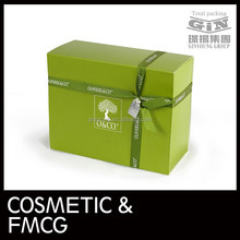 Full print ribbon paper boxes with logo