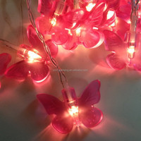 Eco-friendly and high quality outdoor battery operated butterfly garland fairy led string light