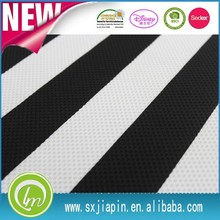 classical black white stripe style mesh comfort fabric for garment curtain 100polyester knitted jacquard fabric price per meter