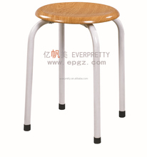 Small hot sale round wooden stool/ cheap home furniture wooden stool/ wooden bar stool chairs SF-12C