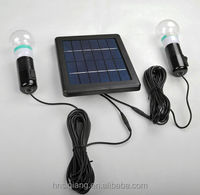 High efficiency portable two led bulbs solar panel light for home use/emergencing use