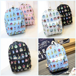 custom quality vintage fashion new design product canvas pattern backpack