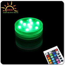2015 Wedding Decoration Color Changing Remote Controlled Led Submersible Lights