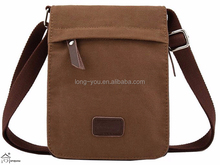 Small Messenger Cross body bag Pack Organizer men's cotton tote bag