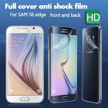 Front and back mobile phone accessories Anti-shock screen protector for s6 edge