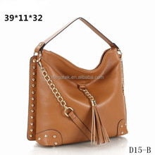Popular tassel shoulder bag women bags 2015 fashion handbag