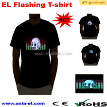No complaint factory sell children led tshirt lighted with custom design