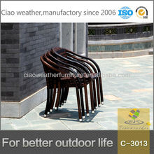 Upscale graceful with aluminum foot cap rattan chair indonesia