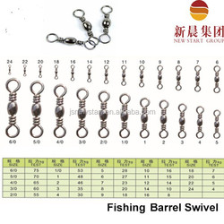 Brass nickel coated Barrel swivel Fishing tackle, Fishing accessories