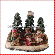 Delighted resin singing bear christmas tree buy christmas decorations
