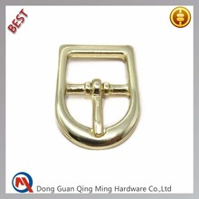12mm Gold Leather Belt Solid Brass Buckles